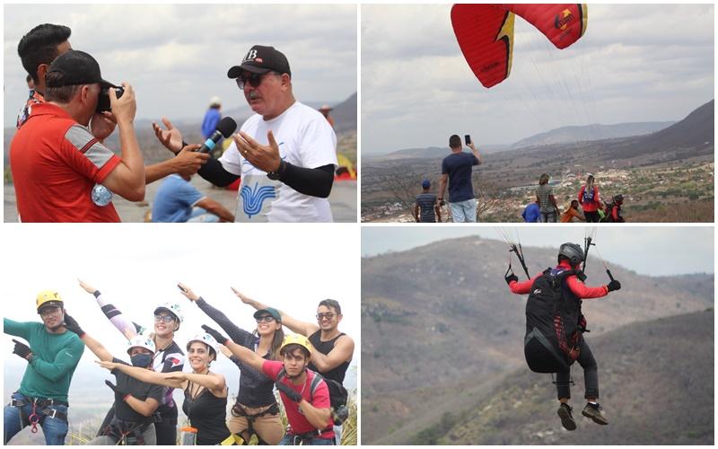 PARAPENTE E RAPEL: Prefeito Robério Burity acompanha o lançamento das novas atrações turísticas de Ingá