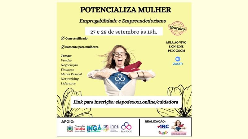 ATENÇÃO MULHERES DE INGÁ: A Secretaria Municipal de Assistência Social informa que se encontra aberta as inscrições para