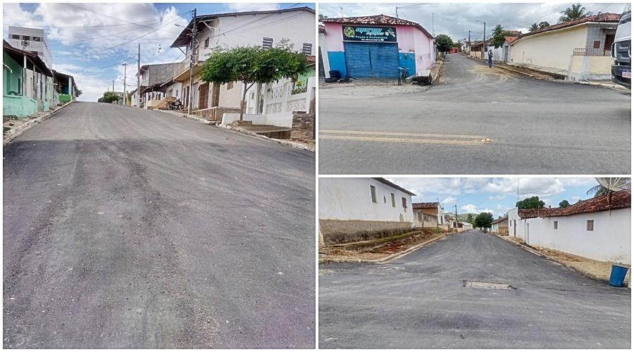 RECURSOS PRÓPRIOS: Prefeito Robério Burity conclui mais um trecho de asfalto em vias urbanas de Ingá