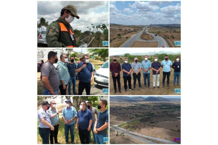 MATADOURO PÚBLICO REGIONAL: Prefeitos acompanham inspeção de técnicos da Sudema para escolha de terreno